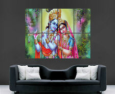 RADHA KRISHNA POSTER RELIGION GOD WALL ART IMAGE LARGE WALL POSTER