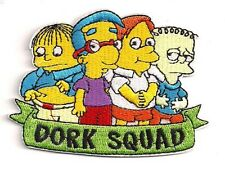 """Simpsons Dork Squad  TV Series  3.75"""" Embroidered Patch- FREE S&H (SIPA-03)"""