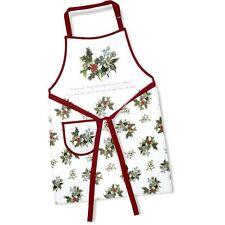 Portmeirion The Holly and Ivy Cotton Apron  - NEW UNUSED Sealed - Pimpernel