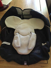 Bebe Confort Creatisfix ** SEAT COVER & HEAD HUGGER** BLACK ref 1 READ CAREFULLY