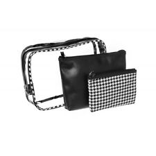 Danielle Ladies Houndstooth 3 Piece Cosmetics Make Up Bag Gift Set Travel