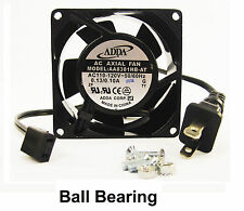 80mm 38mm New Case Cabinet Fan 110V 115V 120V AC 31CFM Ball Bg Cooling 8038 362*