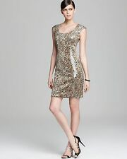 Sue Wong Leopard Print Sequin Form-Fitting Elegant Cocktail Dress.NWT Sz.4