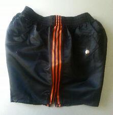 BLACK SIZE M/L nylon rugby soccer satin shorts glanz shiny 80S retro vintage new