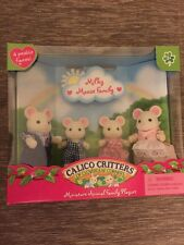 Calico Critters Milky Mouse Family  New In Box #CC1668 Retired