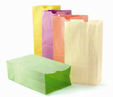 28 Pastel Paper Bags, Party Favor Bags, 6 x 3.5 x 11 inches, grocery/lunch bag