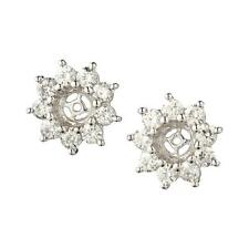 Charles & Colvard Moissanite Flower Earring Jackets 0.54cttw DEW Clearance