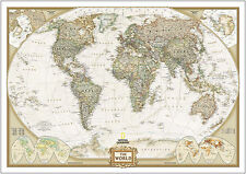Vintage World Map A4 260gsm Poster