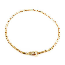 Estate Cartier Agrafe Womens 18K Yellow Gold Collar Necklace