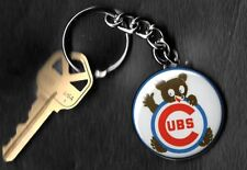 Chicago Cubs Keychain C Retro C Cubs with Bear
