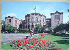 1971 USED POSTCARD OSLO THE PARLIAMENT BUILDING NORWAY NORGE