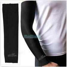 New 1 Pair Cooling Arm Sleeves Cover UV Sun Protection sports Stretch Black