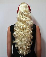 HAARTEIL PLATINBLOND LOCKEN 70 CM Haarzopf HT31 Ponytail Hair Piece blonde wig