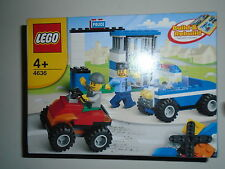 LEGO polizia Building Set 4636 costruiscono automobili, veicoli con 2 Mini Figures.