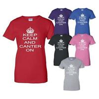 Keep Calm and Canter On Horse Riding Pony Mens Ladies T-Shirt Size S-XXL