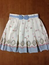 Ank Rouge Mini Skirt White Blue