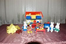 Dick Bruna 40 Pieces MIFFY House Car Camping Set Rubo Toys 2003 Hard To Find