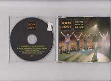 BON JOVI -  WANTED DEAD OR ALIVE    4 TR RARE  UK WITH LIVE TRACKS