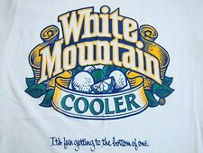 Vintage White Mountain Cooler Beer College Frat Party Paper Thin T Shirt XS