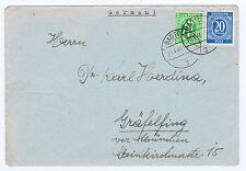 Bizone / AM-Post, Mi. 3 + Gem.Ausg. 924, Bad Tölz, Briefinhalt