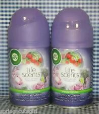 2 Air Wick Freshmatic Ultra Life Scents MYSTICAL GARDEN Automatic Spray Refill