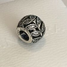 Authentic Pandora Sterling Silver Sparkling Leaves CZ Charm Bead 791380CZ