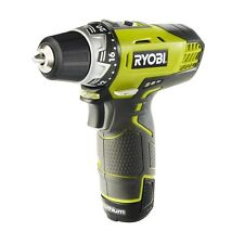 Ryobi 12V Cordless Drill Driver Variable Speed w 2 1.3AH Lithium-ION Batteries