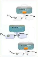 (3 PACK)  +3.00  Magnivision Alumineyes Rimless Reading Glasses MINOR BLEMISHES.
