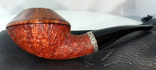 MINT RAD DAVIS HALF BENT FREEHAND RHODESIAN W/ SILVER BAND PIPE
