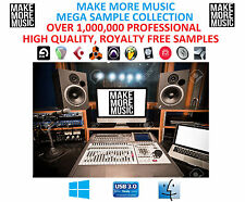 OVER 1,000,000 MUSIC PRODUCTION SAMPLES, LOOPS, DRUMS, FX ABLETON, CUBASE, LOGIC