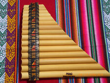 PROFESSIONAL PAN FLUTE CURVED TUNABLE 15 PIPES -NAZCA DESIGN -ITEM IN USA