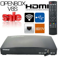 Genuine Openbox V8S Digital Freesat FTA Full HD Internet Satellite TV Receiver