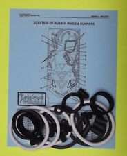1995 Capcom Pinball Magic pinball rubber ring kit