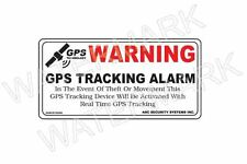 GPS Tracking Alarm Security Anti Theft Decal Sticker Auto Boat RV Truck Car x 4