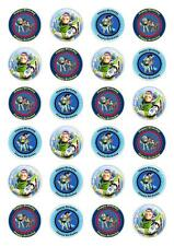 24 Toy Story Papel Comestible Magdalena Hada Cake Toppers Decoraciones Comestibles