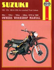 Haynes Manual 0797 - Suzuki 100, 125, 185 & 250 Air-cooled Trail bikes (79 - 89)