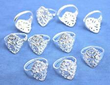 Wholesale Lots 10pcs  925sterling solid Silver Fashion Hollow out rings 6-9