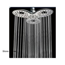 Shower-Head Large Wide 3 Function Rain Pulse Combo Spa Luxury Chrome Finish Jets
