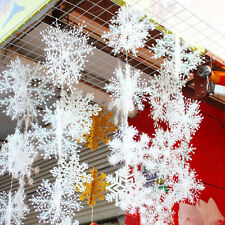15x Christmas Tree Ornament Frozen White Snowflake Hanging Party Decoration