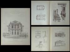 THEATRE MUNICIPAL D'ORANGE - PLANCHES ARCHITECTURE 1890 - BOUDOY CARLIER