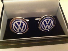VW CUFF LINKS SILVER IN BOX COLLECTABLE BNIB GOLF POLO GTI