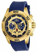 Invicta Men's 21737 Blue Quartz Stainless Steel and Silicone Casual Watch NWT!