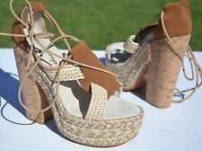 New Free People High Society Platform Sandals Size 39 / 9 $198