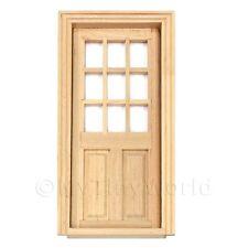 DOLLS HOUSE miniatura 9 pannello vetrato in legno porta