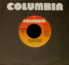 """WILLIE NELSON """"WITHOUT A SONG/I Can't Begin To"""" COLUMBIA 38-04263 (1983) 45rpm"""