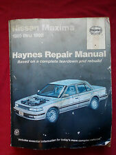 Haynes Repair Manual Nissan Maxima 1985 - 1992