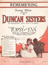 BLACKFACE ACT Broadway song TOPSY AND EVA Duncan Sisters UNCLE TOM'S CABIN 1923
