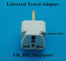 Universal USA EURO AUS to GB United Kingdom HK Travel AC Power Plug Adapter New