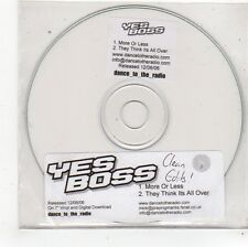 (FS521) Yes Boss, More Or Less - 2006 DJ CD