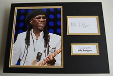 Nile Rodgers SIGNED autograph 16x12 photo display Chic Le Freak AFTAL & COA